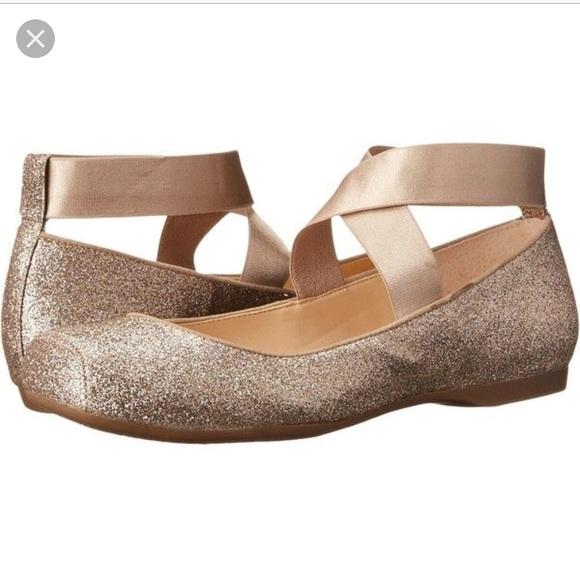 "68661447d698 Jessica Simpson Shoes - Jessica Simpson ""Mandayss"" gold ballet flat"